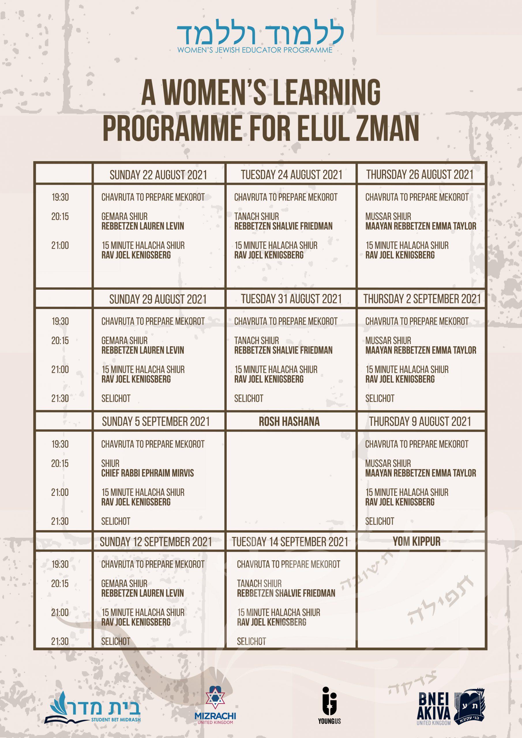 Timetable copy